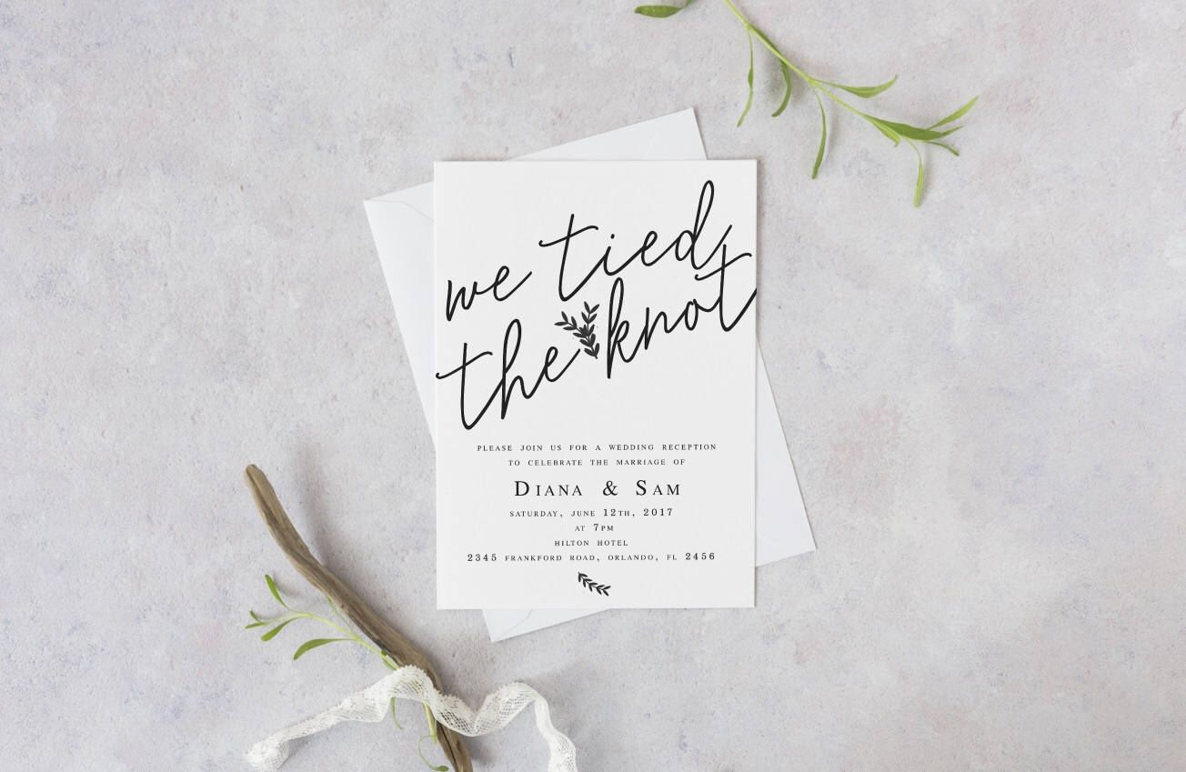 We Tied the Knot Elopement Wedding Reception