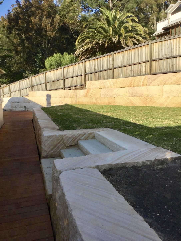 Sandstone Retaining Walls Central Coast Excavation Martin In 2020 Landscaping Retaining Walls Backyard Retaining Walls Garden Retaining Wall