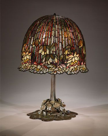 Louis Comfort Tiffany (1848 1933) Tiffany Studios (1902 1938) Water Lily  Table Lamp, 1904 15 Leaded Favrile Glass With Bronze Base