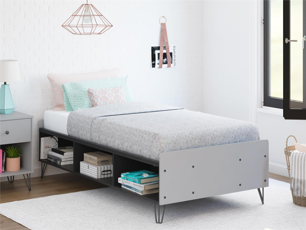 Ameriwood Novogratz Owen Twin Bed Dove Gray Walmart Com In 2020