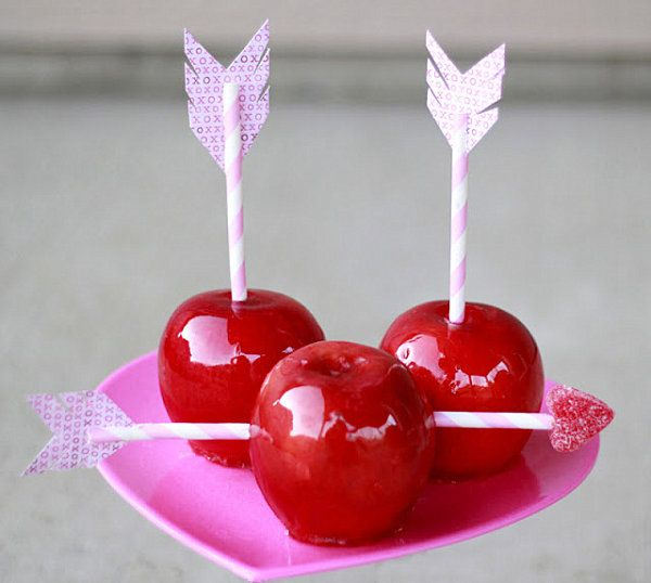 Valentine Candy Apples Awesome Valentines Day Party Ideas
