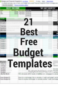 Best Free Budget Templates & Spreadsheets | Free budget template ...