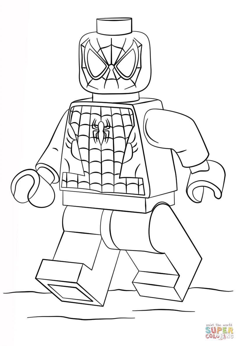 Lego Spiderman Coloring Pages Hombre Arana Para Pintar Imprimir