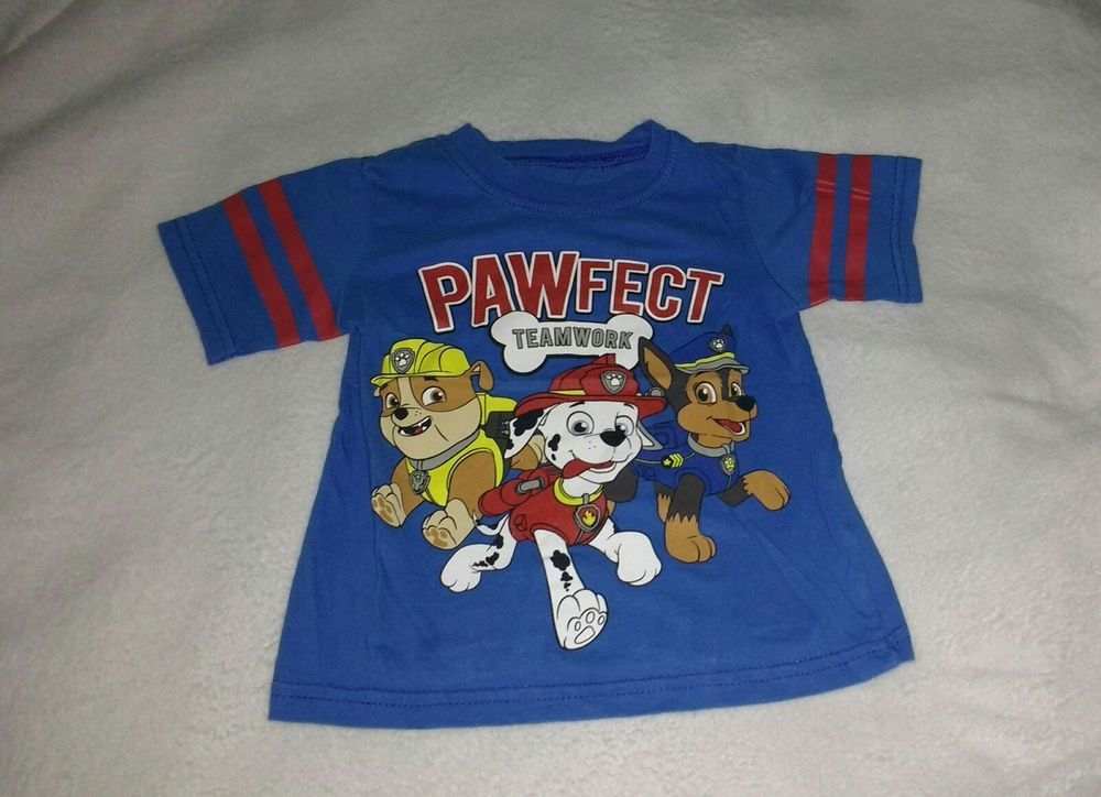 Paw Patrol Toddler Boys Short Sleeve T Shirt  NWT Orange or Blue Size  2T