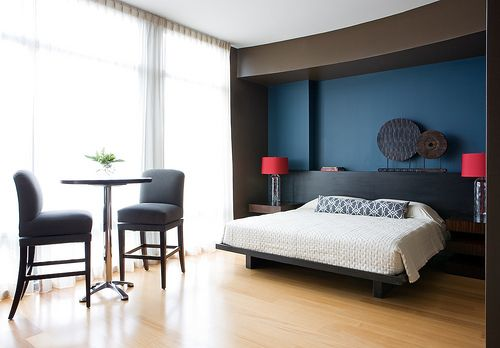 Hotel Bedrooms Minimalist Remodelling Modern Minimalist Bedroom Wall Blue Decorating Design Ideas .