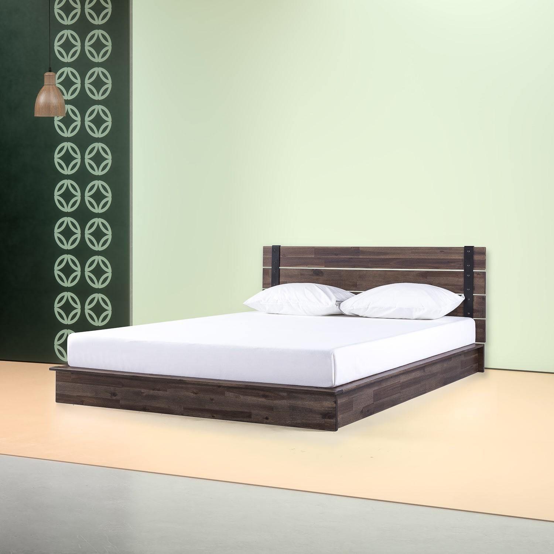 Brock Metal and Wood Platform Bed Frame in 2020 Wood