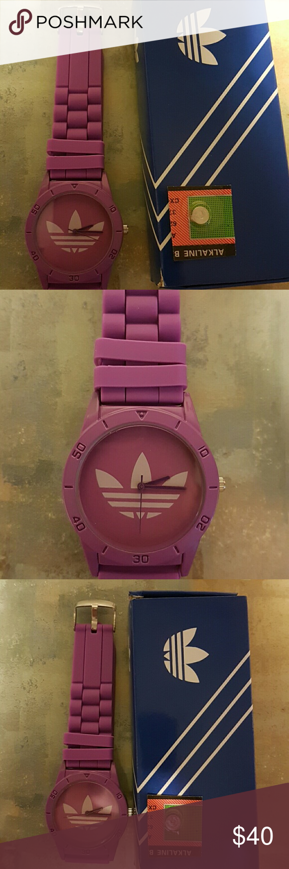 Watch adidas purples. Baterry extra. Offer Watch adidas purple. Included box and baterry extra. Offer Adidas Accessories Watches