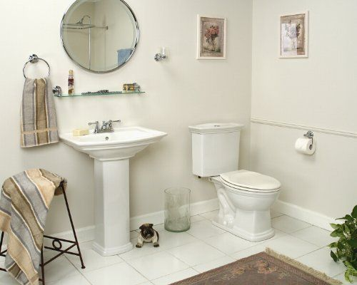 Barclay Washington Elongated Front Toilet And 550 8 Inch Widespread Pedestal  Sink (Matching Set
