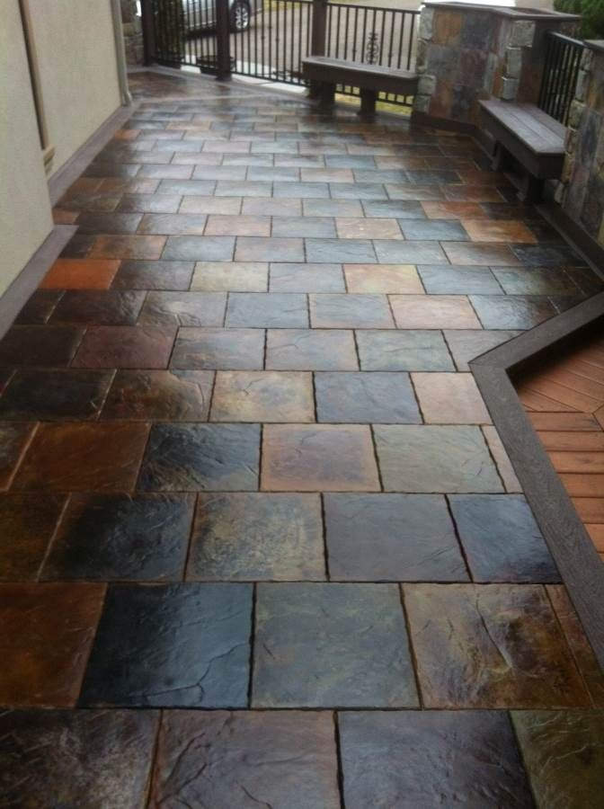 Precast concrete tiles for elevated decks. Love the high end look of ...