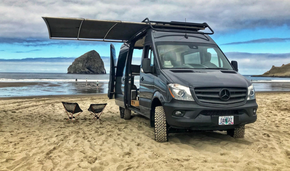 sprinter adventure vans rv van sureshade awning kits diy vehicles into transform help rugged camper promaster mercedes explorers retractable transit