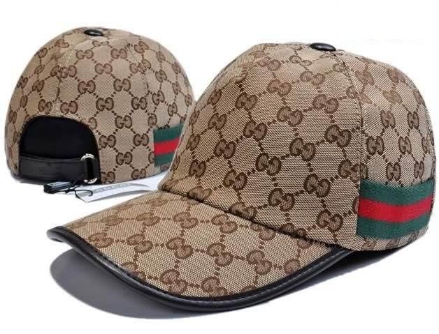 96ec1b0d Gucci GG Pattern Baseball Hat with Web Detail | my hats | Baseball ...