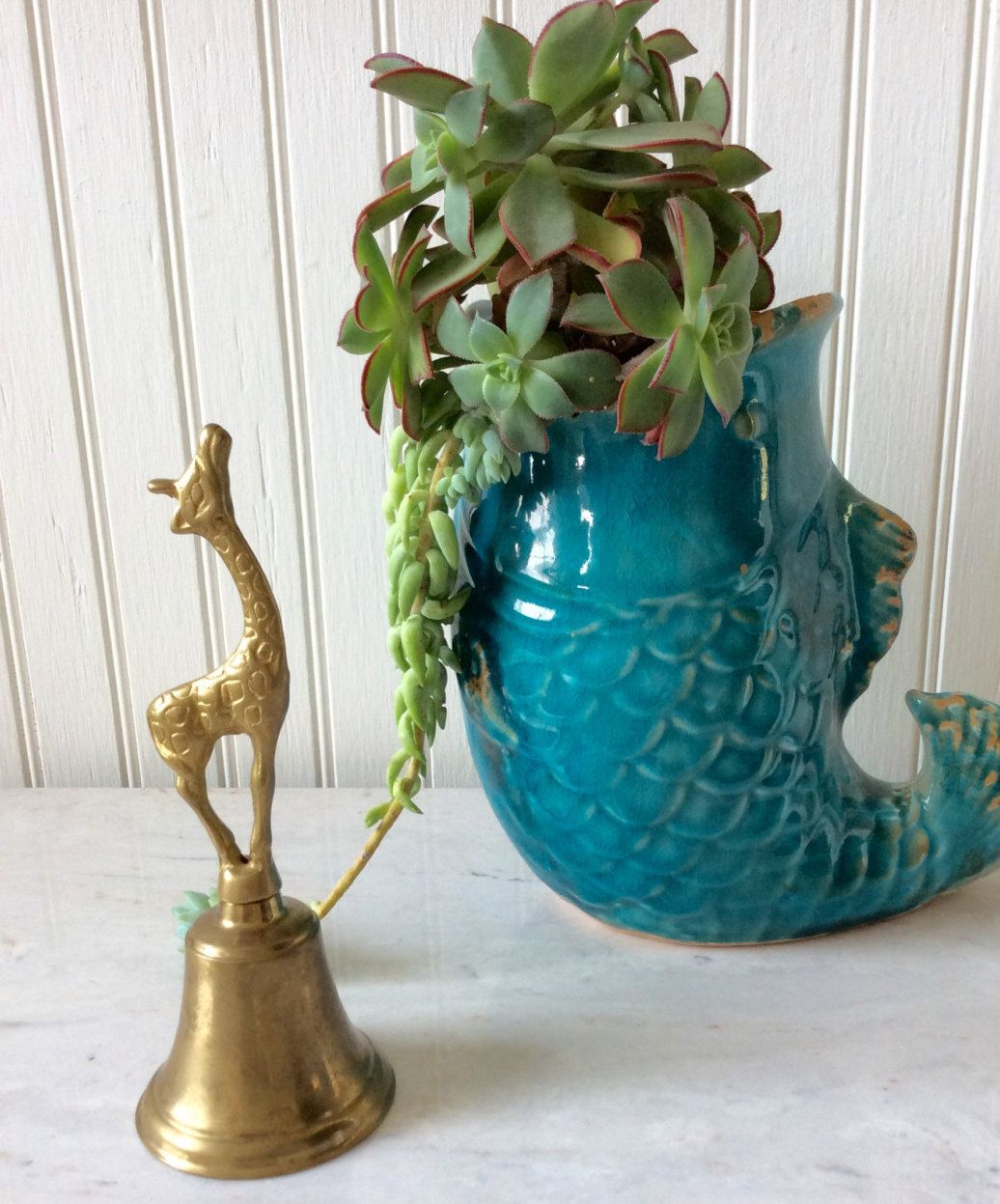 Vintage Giraffe Brass Bell, Solid Brass, Old World Decor, Coastal, Mid Century, Bookshelf Decor, Man Cave, Collectable by YellowHouseDecor on Etsy https://www.etsy.com/listing/255516871/vintage-giraffe-brass-bell-solid-brass