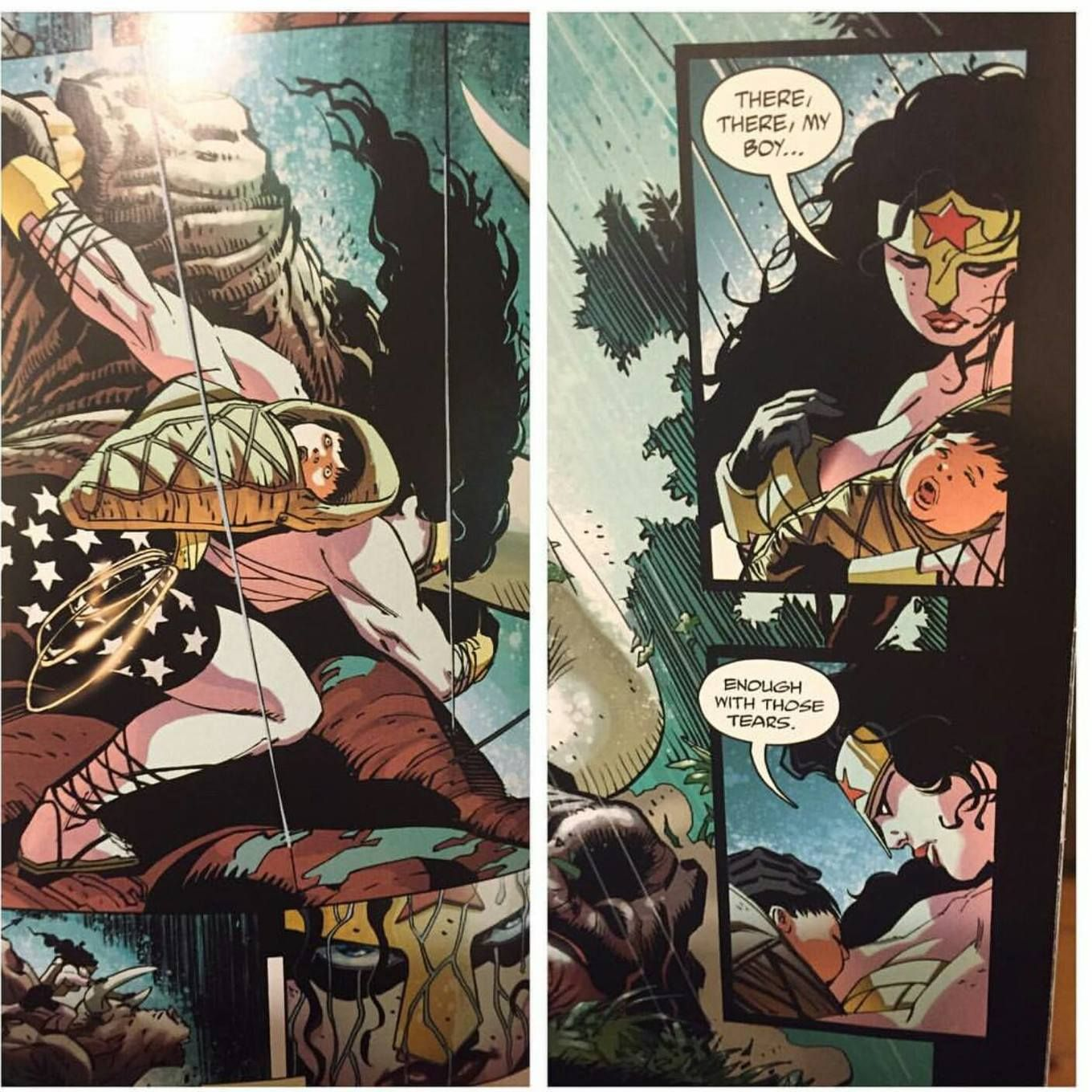 Scene from The Dark Knight 3 Batman graphic novel: Babywearing and ...