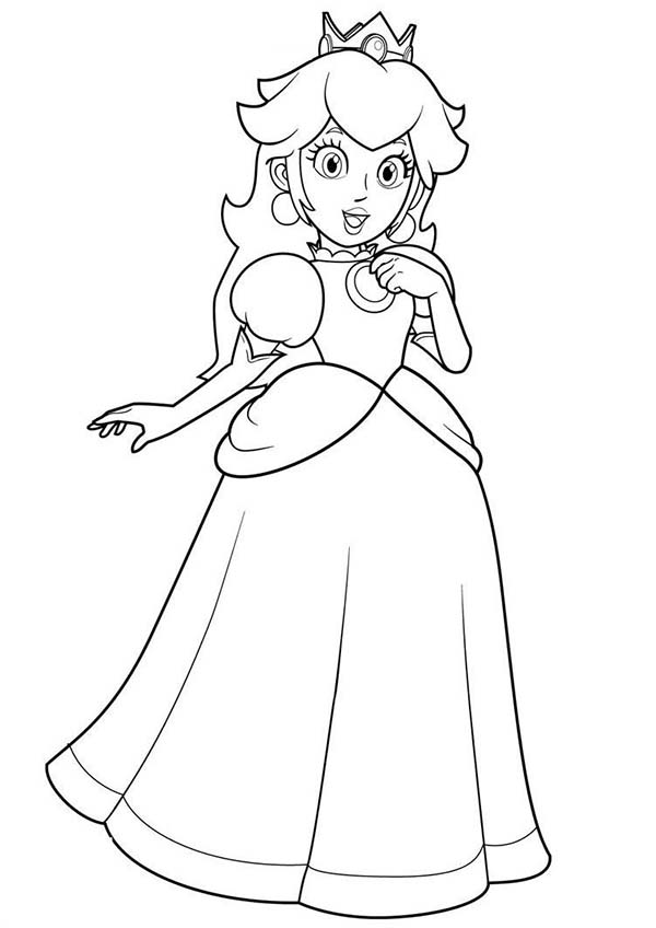 Princess Peach Birthday Coloring Pages Bulk Color In 2020 Princess Coloring Pages Princess Coloring Birthday Coloring Pages