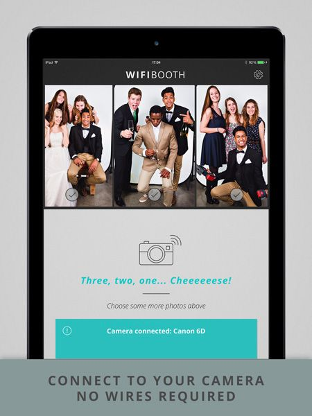 The WiFi Booth   The pro iPad app for wedding photobooth