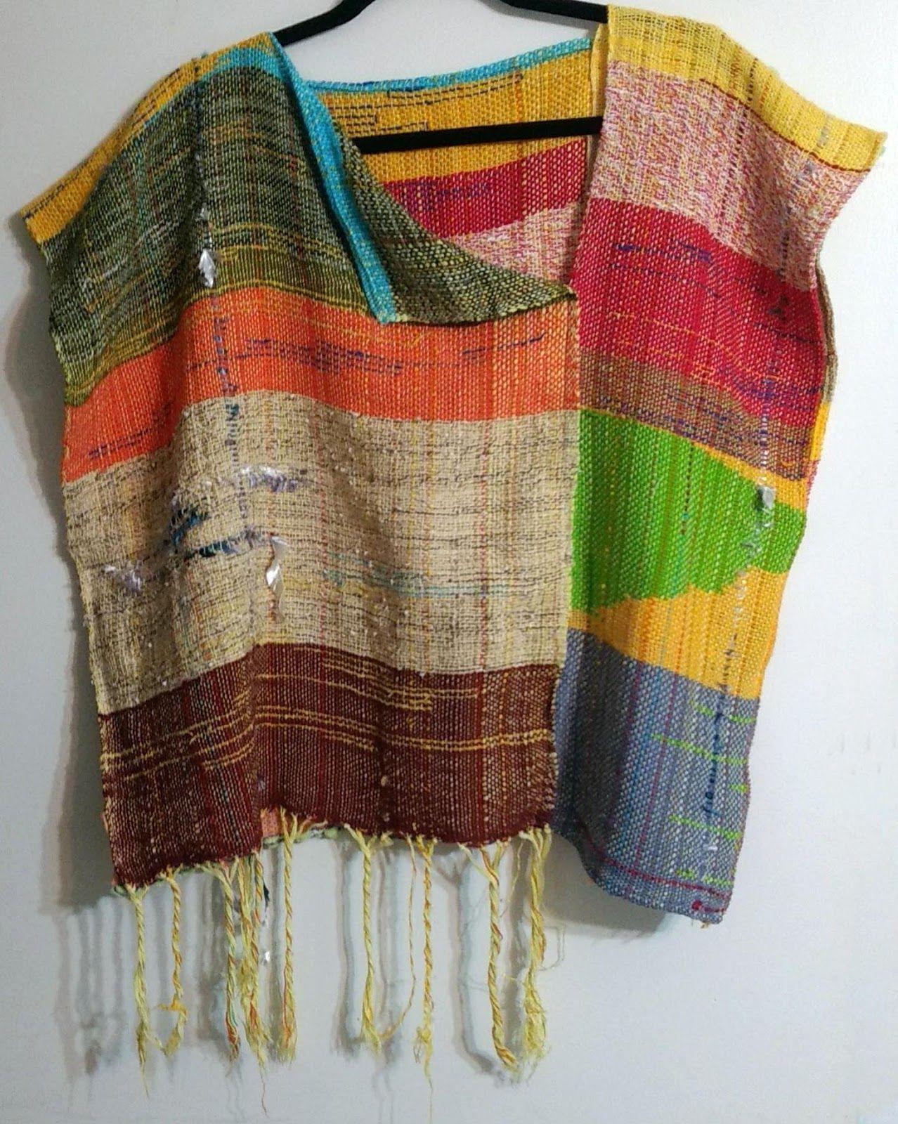 Hand woven Saori tunic