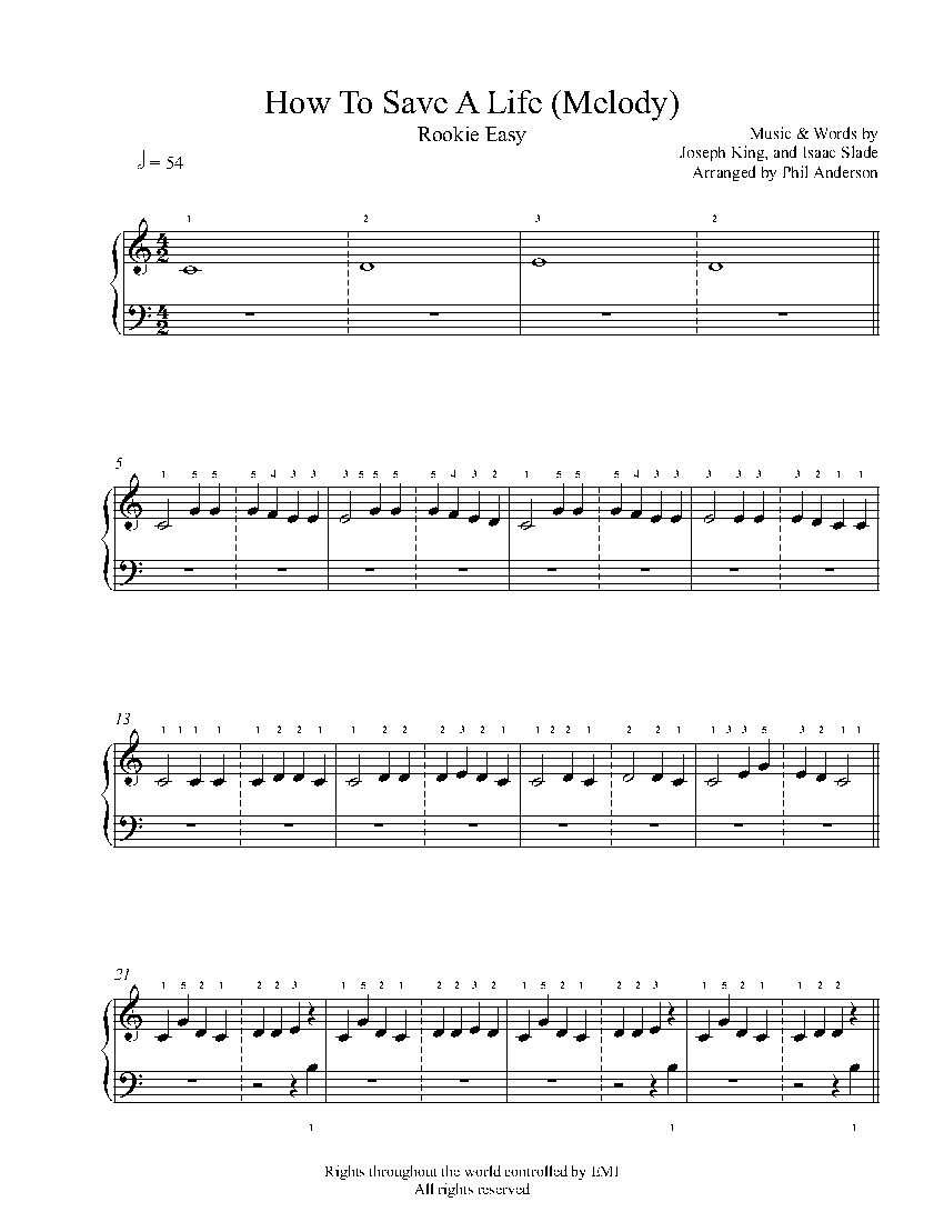 Print and download sad song sheet music by we the kings sheet how to save a life melody by the fray piano sheet music rookie hexwebz Gallery