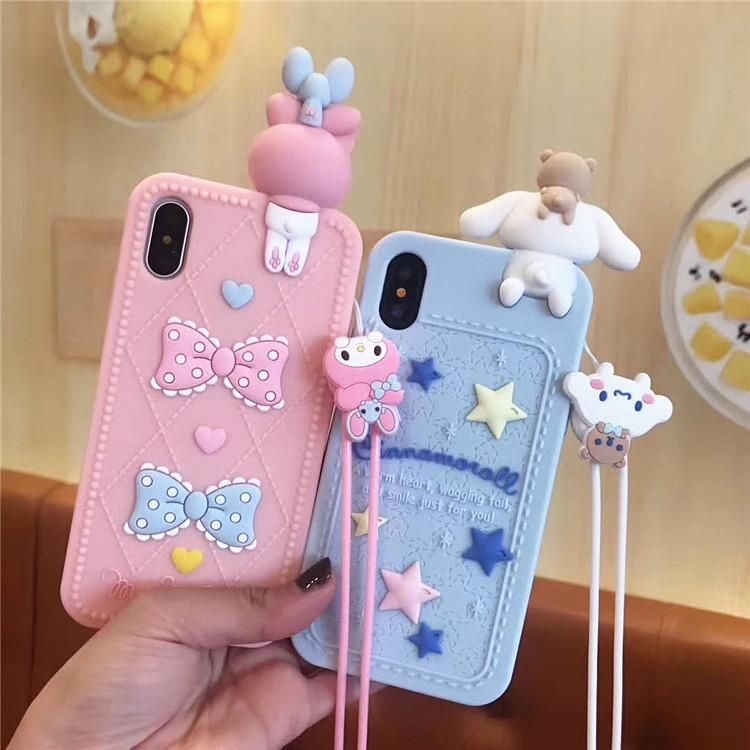 Cinnamoroll and my melody phone case for iphone 66s6plus