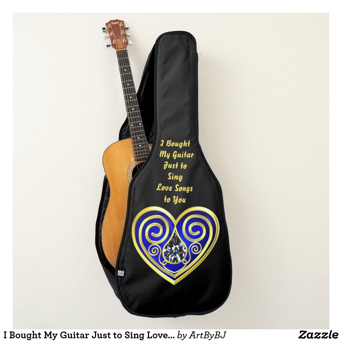 I Bought My Guitar Just To Sing Love Songs To You Guitar Case Zazzle Com For You Song Guitar Case Love Songs