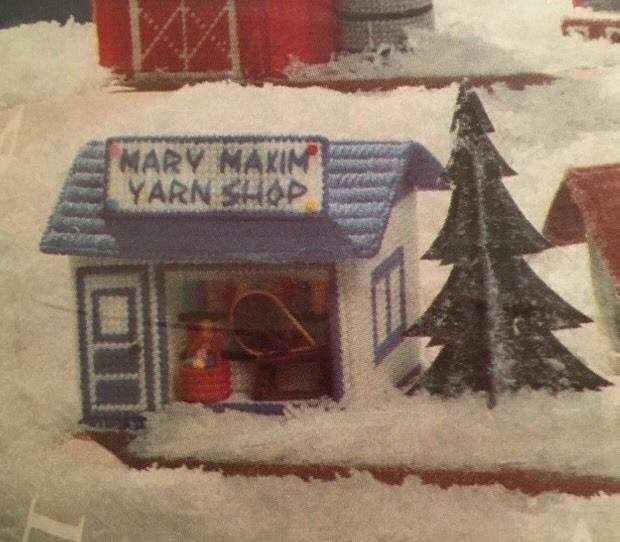 Mary Maxim Exclusive Plastic Canvas Needlework Musical Village Crafts