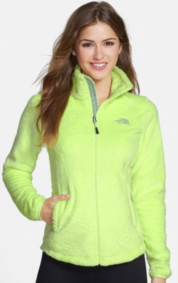 35190fded New The North Face Osito 2 Rave Green Sliken Fleece Jacket Size ...