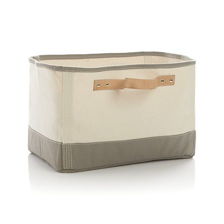 Laundry Bags With Handles Best Canvas Rectangle Bin With Leather Handles  Stuff Lust  Pinterest