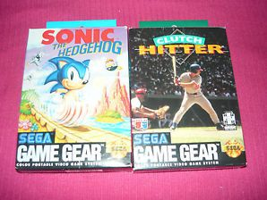 Sonic The Hedgehog 1 Clutch Hitter Game Gear Games Complete Free Shipping Gaming Gear Sonic The Hedgehog Sega Games