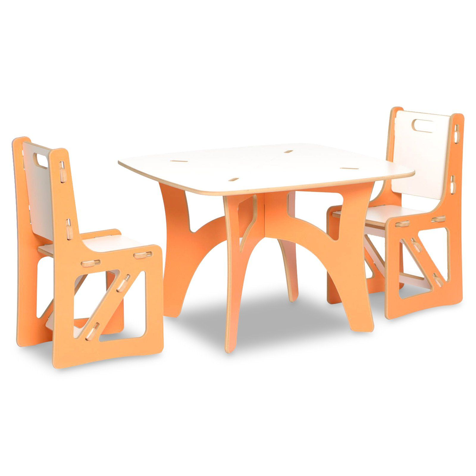 Kids Table And Chairs Set Orange White Kids Table And Chairs Modern Kids Table