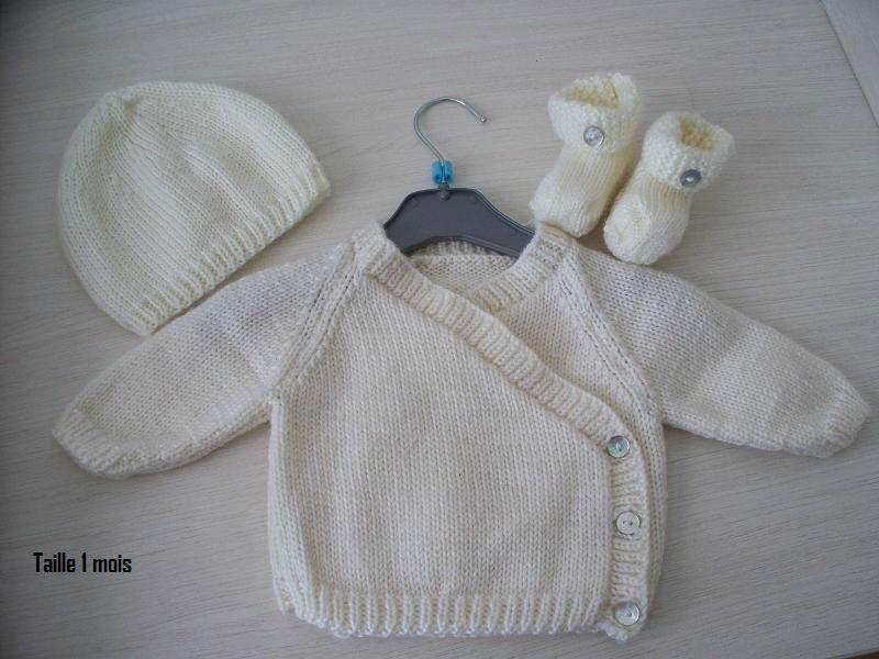 6f32c21e31f2a Explication tricot layette naissance gratuit - Laine et tricot Tricot Bébé  Naissance
