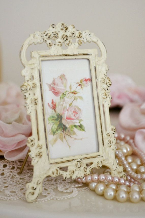 Shabby Chic Antique Painted Picture by Jenneliserose