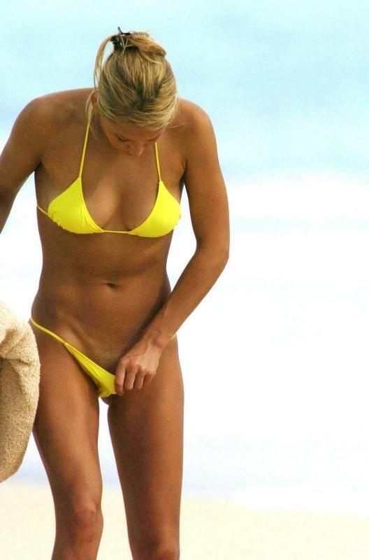 Anna kornikova yellow bikini