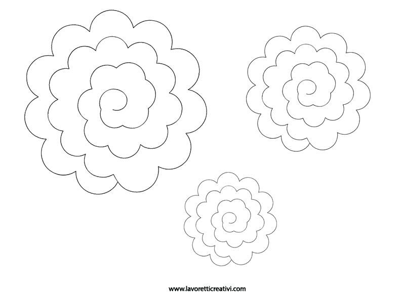 Big Flower Template Rose Per Rose Large Paper Flower Template Pdf