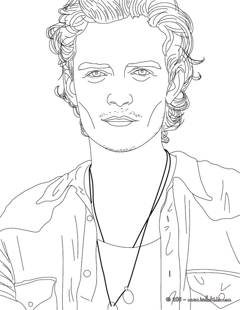 orlando bloom coloring page more famous people coloring sheets on