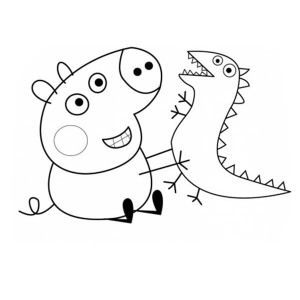 Image result for george's dinosaur coloring book ...