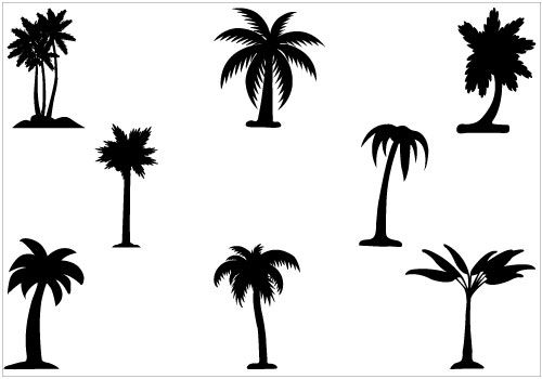 palm tree silhouette download free palm tree vectors palm tree rh pinterest com vector palm trees illustrator vector palm trees free