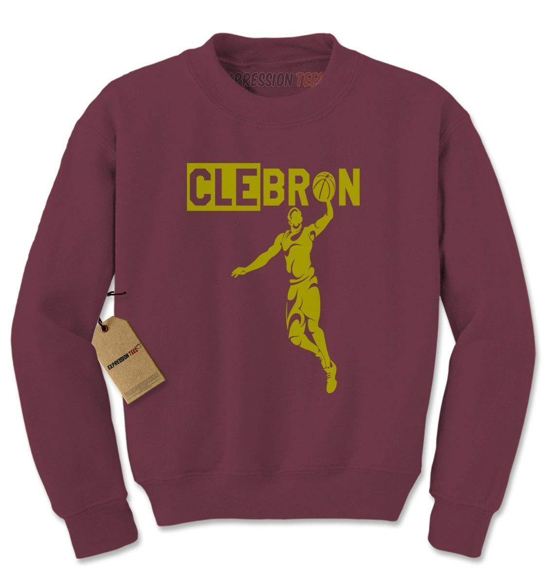 CLEbron Clebron 2016 Cleveland Basketball Champions Adult Crewneck Sweatshirt