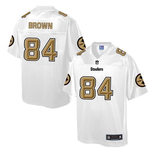 Men s Nike Pittsburgh Steelers  84 Antonio Brown Game White Pro Line  Fashion NFL Jersey 0dad1935e