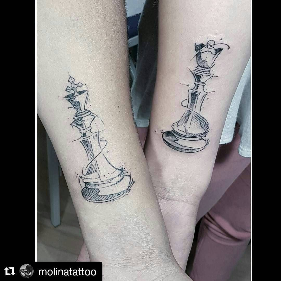 Image Result For Chess Piece Couple Tattoos Tattoo