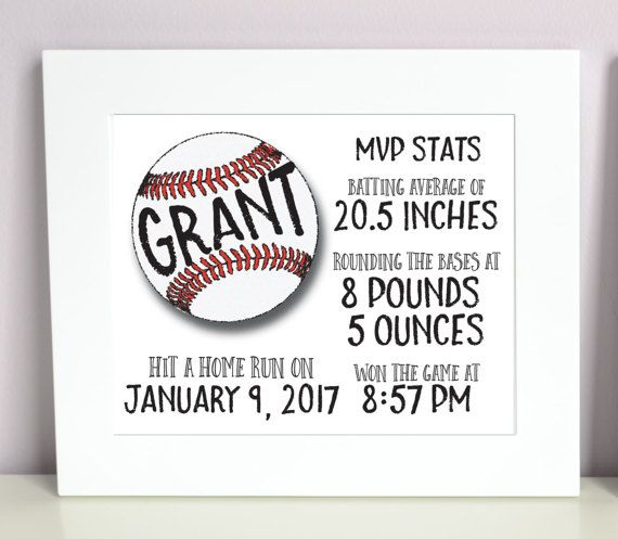 DIGITAL FILE* Your little MVP and all their important stats! Cute to