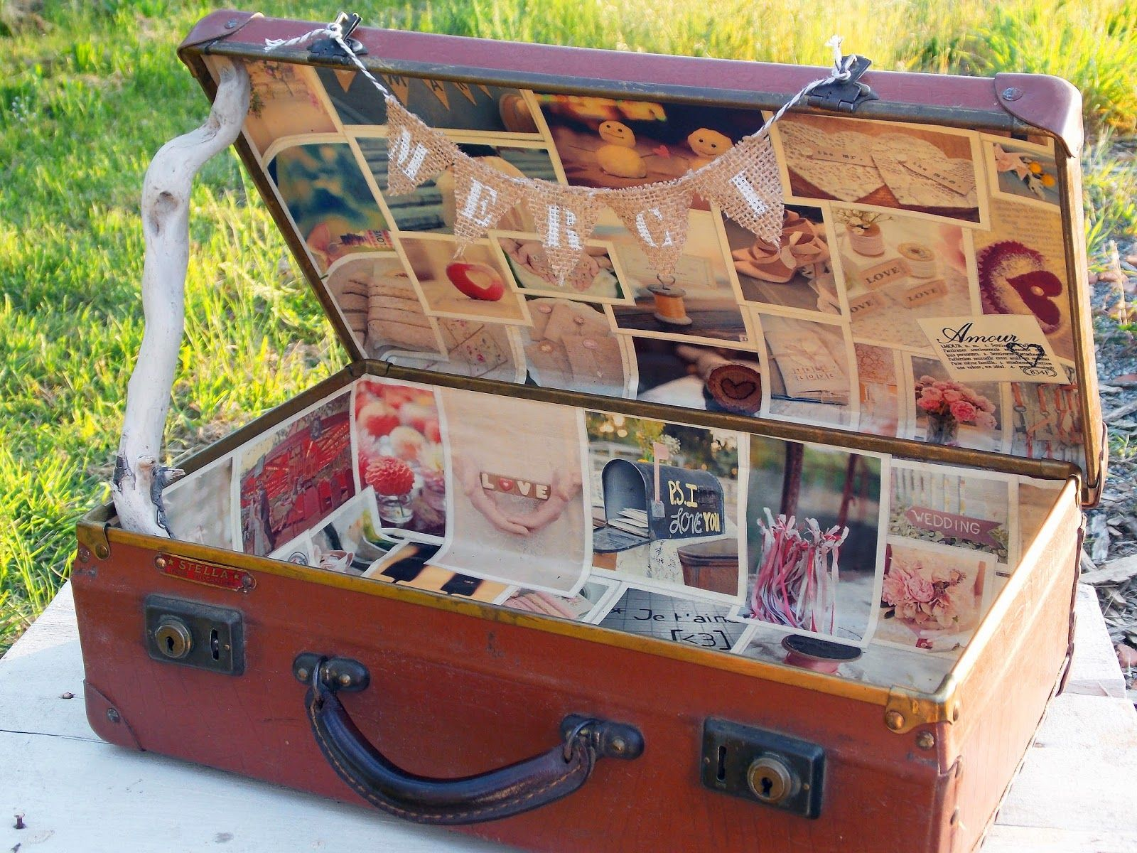 la f e kabosse urnes mariage valise caisse bois personnalis es mariage pinterest urne. Black Bedroom Furniture Sets. Home Design Ideas