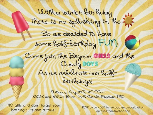 Summer Party Ideas | Birthdays, Half birthday and Birthday party ideas