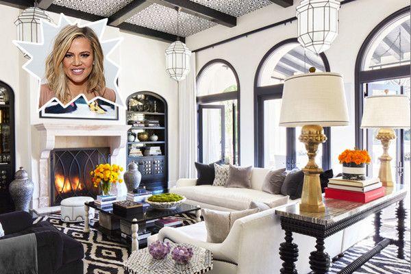 Khloe Kardashians Living Room Living rooms Celebrity and Room