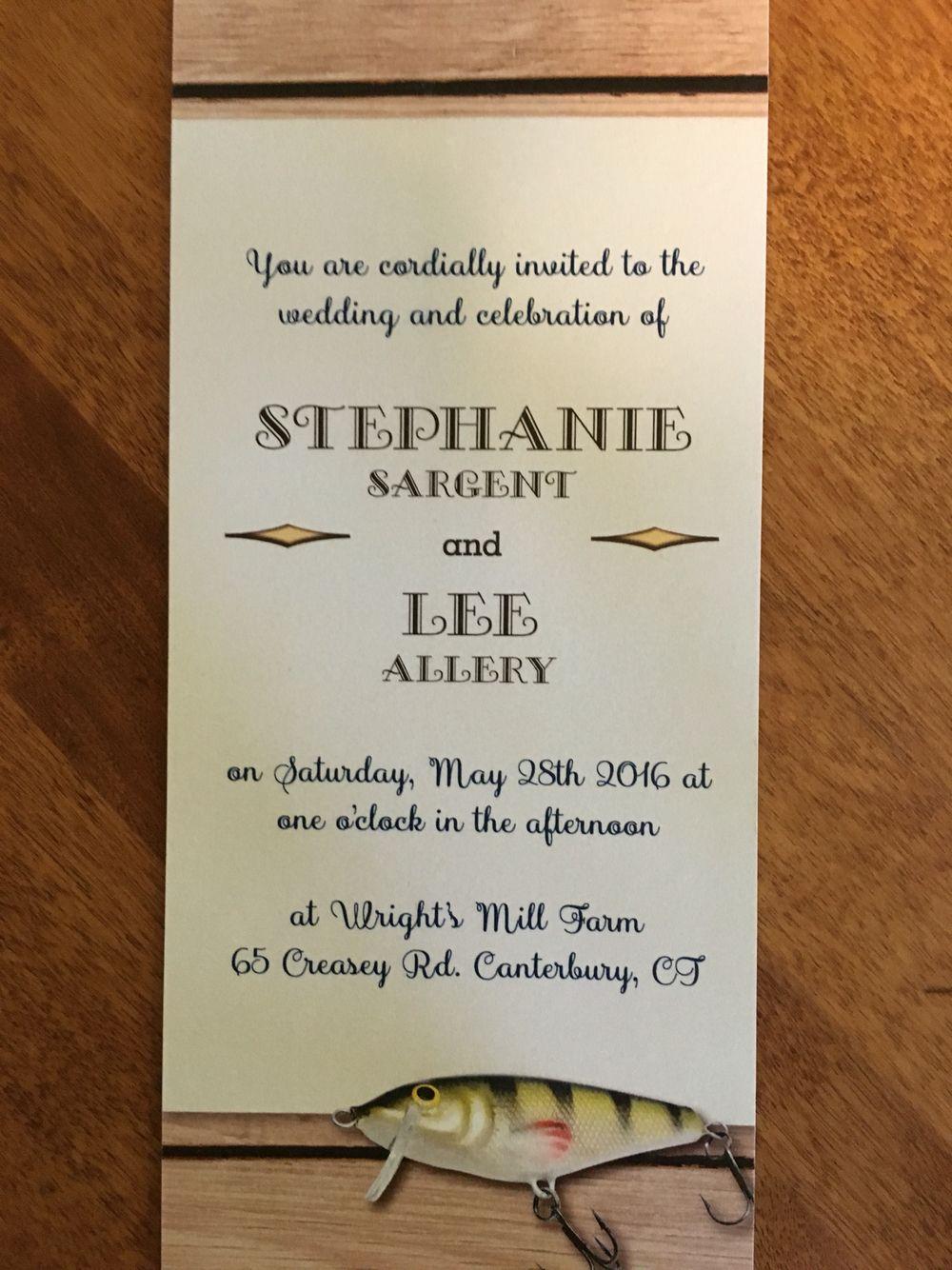 The invitation | My daughter\'s fishing themed wedding | Pinterest ...