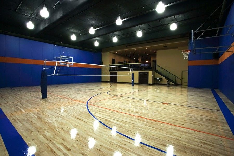Basketball Volleyball Quart Home Basketball Court Indoor Basketball Court Home Gym Design