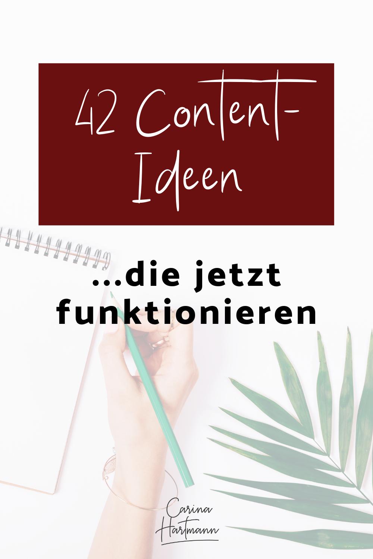 42 Content Ideen Die In Social Media Immer Funktionieren Carina Hartmann In 2020 Online Marketing Strategie Instagram Tipps Online Marketing