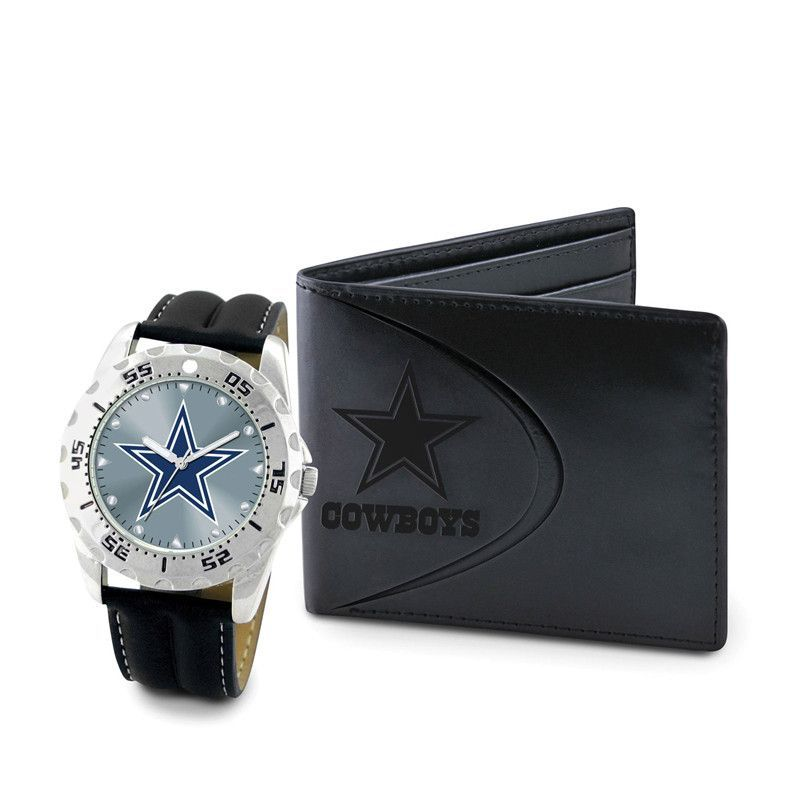 Dallas Cowboys Watch & Wallet Set for Men