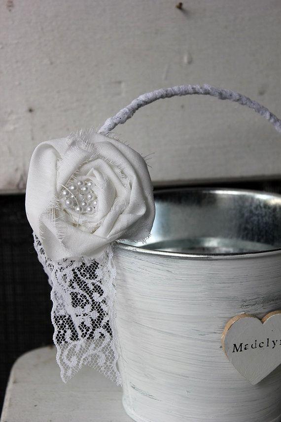 Totally possible as diy medium white flower girl bucket basket totally possible as diy medium white flower girl bucket basket by montanasnow on mightylinksfo Gallery