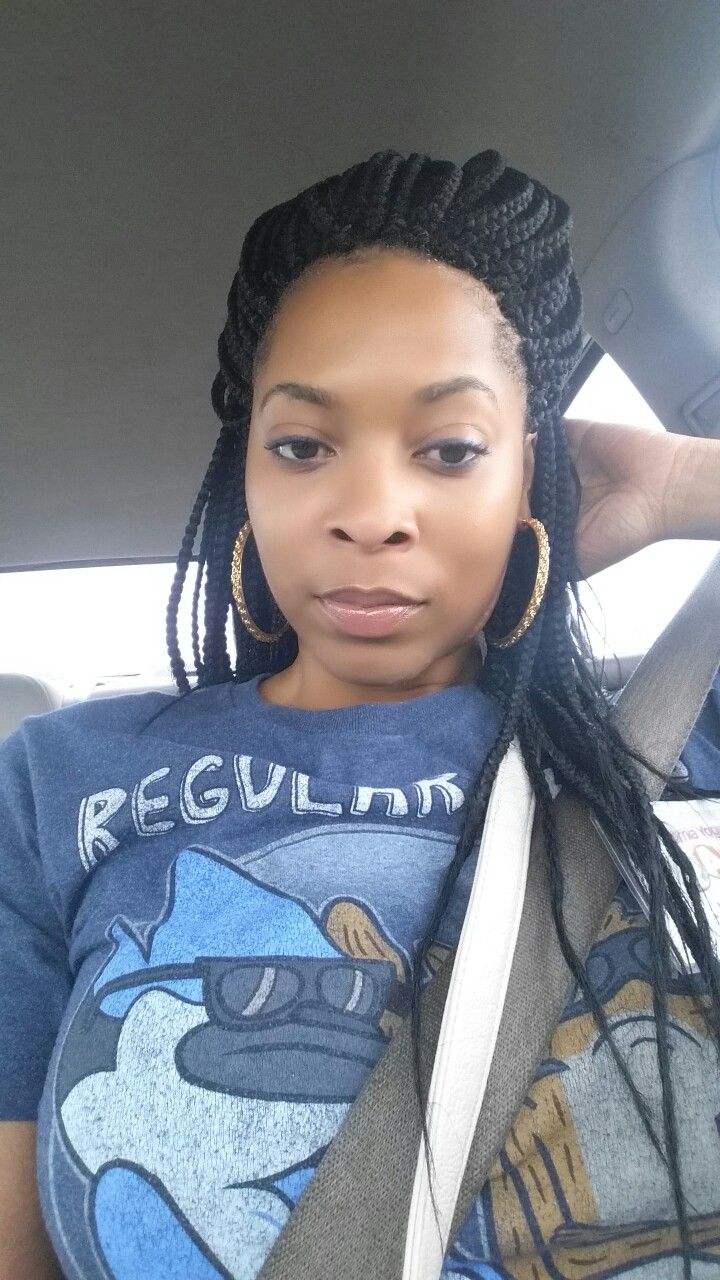 Medium Box Braids Regular Show Tee