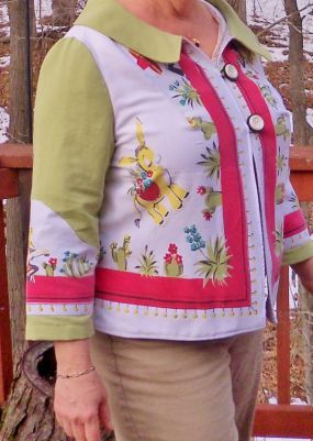 tablecloth jacket - Oh my - I collect vintage tablecloths!