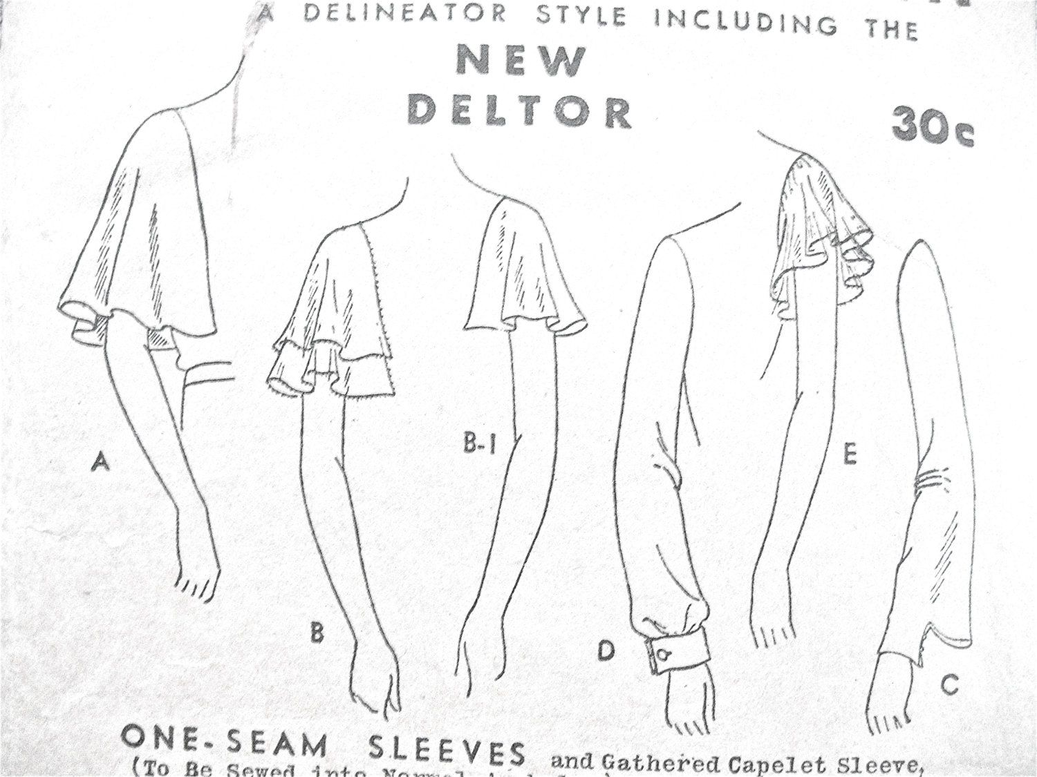 rare 1930s sleeves in several styles sewing pattern by butterick Vintage Gunne Sax Peasant Dresses rare 1930s sleeves in several styles sewing pattern by fancywork